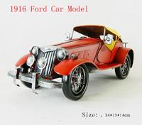 Antique craft ford car model handmade craft home decoration bar coffee house display birthday gift