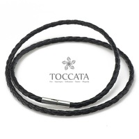 Knitted leather cord necklace male necklace black first layer of cowhide genuine leather rope necklace accessories