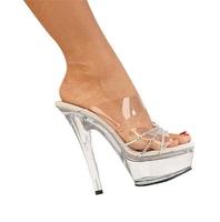 Sexy high-heeled shoes transparent crystal shoes ultra high heels sandals rhinestone sandals ruslana korshunova shoes wedding