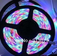 50pcs/lot Wholesaling Freeshipping Waterproof LED Strip  60 pcs/m 3528 RGB SMD 5M 300+24 Key IR Remote