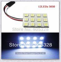 Free shipping 12LEDs SMD5050 white Lamp12V LED reading Panel T10 BA9S Door roof Bulb Lights LED Sourcing interior Car Dome light
