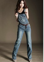 2013 new arrival bib pants jeans female street personality spaghetti strap pants jumpsuit trousers