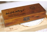 Antique Alphabet stamp set ver.2 with delicate packing free shipping (upper case)