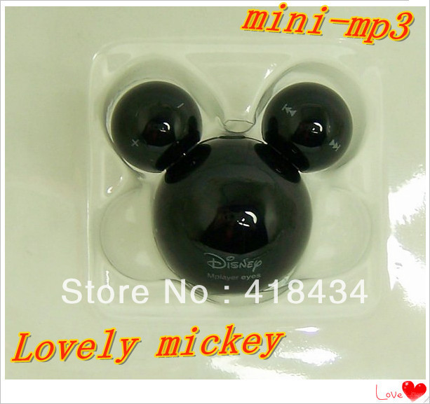 Real 4GB memory Free Shipping,Cute Mickey Mouse MP3 Player,New high quality and Good price mp3 2pcs/lot(China (Mainland))