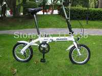 "Hot Sale Sing Speed 14"" Mini Folding Bicycle Small Wheels Bike Lighter and More Convenient Free Shipping"