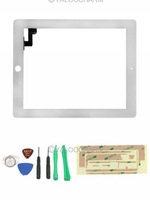Hot 1pc White Color Touch Screen Glass Digitizer Replacement+ Adhesive Glue Tape 3M for Apple iPad 2 Free Shipping 80520