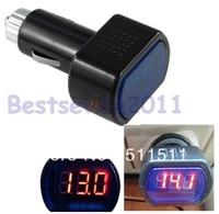 12V 24V Cigarette Lighter Socket Port Battery Monitor Voltmeter Voltage Meter