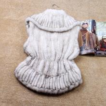 Mink fur vest fur vest fur coat fur 2012 short design knitted mink(China (Mainland))