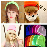 HARAJUKU candy color gd neon knitted hat hip-hop cap squid cap lengthen autumn and winter