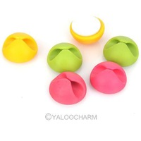 Hot Wholesale 4Sets Candy Colors Multipurpose Cable Wire Clips Clamp Drop Holder Organizer 80492
