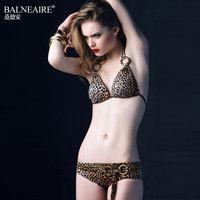 Swimwear fashion leopard print bikini small push up swimwear female plus size 9483 spa