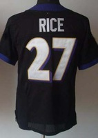 Free Shipping #27 Ray Rice Men's Elite Football Jersey,Embroidery and Sewing Logos,Size M--3XL ,Accept Mix Order