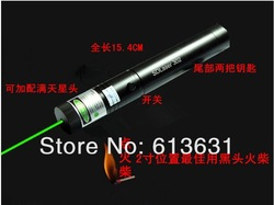 Free Shipping Green Laser Pointer 3000MW Laser Pen adjustable star burn match(China (Mainland))