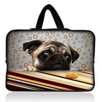 "Free Shipping 17"" Pug Dog Laptop Sleeve Bag Case+Hide Handle For 17.3"" HP Pavilion dv7,G7,E17"