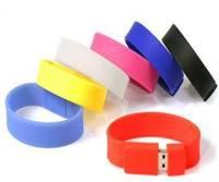 Sport silicone bracelet usb flash drive 1GB/2GB/4GB/8GB/16GB/ 32GB PORTABLE (Black)