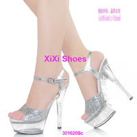 15 ultra high heels crystal sandals shoes wedding shoes