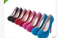 Women Fashion Joker High Heel Suede Shoes LONG#176