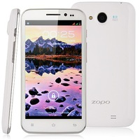 Zopo ZP810 Android Phone 5 Inch IPS Screen 1280x720 pixels MTK6589 1.2GHz dual core 1GB RAM 4GB 5mp Front Webcam White