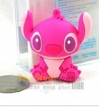Freeshipping+dropshipping!Hot sales New pink lovely animal cartoon usb 2.0 memory stick pen thumb drive(China (Mainland))