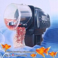 Freeshipping 2pcs/lot Digital Automatic Aquarium auto Fish Feeder Food Fish Tank Food Auto Timer Aquarium auto pet feeder