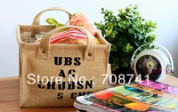 FREE SHIPPING,Jute bag,Jute storage case,jute storage hamper,customized size and logo acceptable
