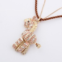 Min Order 15$ Free Shipping New Arrival Vintage Style Lovely Horse Chains Necklace Good Quality Wholesale Hot HG0206