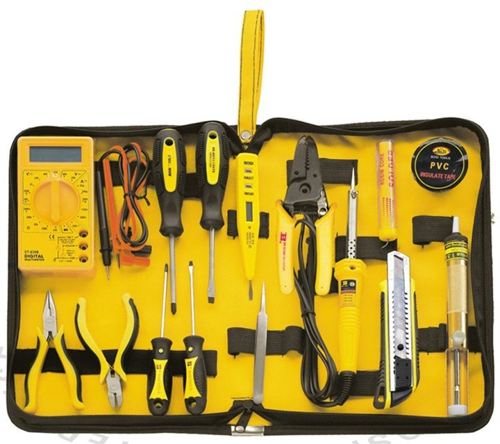 free shipping 15 in 1 electrician tools set,household tool set(China (Mainland))