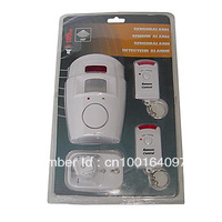 14PCS EMS Free shipping Independently Wireless Infrared Motion Detecting Alarm System with 2 x Remote Controls