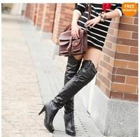 Women's Sleeve High Heel Over The Knee High Boots #a73