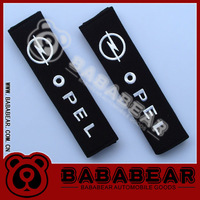 New arrive Bababear car logo safety belt cover opel shoulder pad set