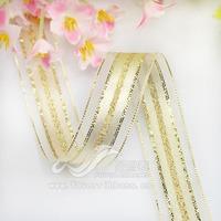 16mm satin jincong mesh belt sheer ribbon gift decoration ribbon 9 Colors