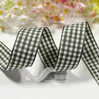 Promotion ! Ribbon 19mm plaid belt plaid belt diy hair accessory ribbon 18 50