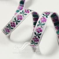 Ribbon 13mm flowers jacquard belt jacquard belt diy hair accessory ribbon 50