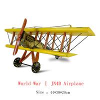 Antique craft world war one JN4D aircraft model handmade pigbank craft home decoration bar coffee house display birthday gift