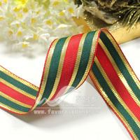 Promotion Ribbon 38mm ribbon chromophous iron wire ribbon christmas decoration ribbon 18 10