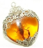 new Tibet silver amber scorpion necklace pendant