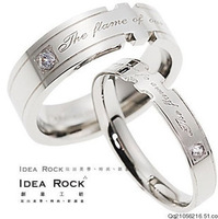 GJ128 Titanium 316L Stainless Steel Couple's Ring Purity Promise Rings