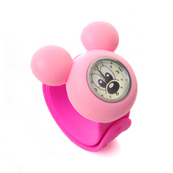 10pcs/lot Children&#39;s Jelly Slap Watch Mickey Mouse Watch kids silicone sport watches Free shipping(China (Mainland))