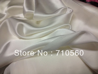 free shiping 100% mulberry silk satin fabric charmeuse 22m/m heavier weight for evening dress,blouse,wedding dress white PFD