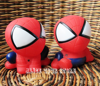 Spider-man small coin bank money box figure 2pc 8cm super hero Marvel Comics