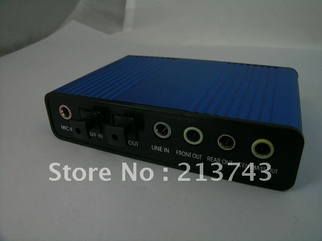 USB 6 Channel 5.1 External Optical Audio Sound Card SPDIF(China (Mainland))