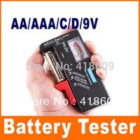 2 x Universal Battery Checker Tester AA AAA C D 9V