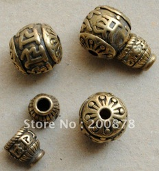 BRO678 Tibet brass rosary Ghuru beads and tower,Tibetan six mantras prayer beads mala 3-way accessories,best offer(China (Mainland))