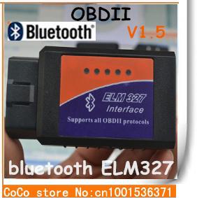 ELM327 Bluetooth OBD-II Diagnostic Scanner Can-Bus ELM 327 Check Engine Light Car Code Reader-stock