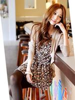 2013 spring fashion romantic print suspender skirt cotton shirt coat/180