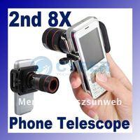 8x Zoom Optical Lens Phone Telescope Camera 2nd For MobilePhone Cellphone + Holder 847