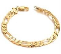 hot selling18k glod bracelet bangle for men,gold jewelry cool casual bracelet, 2pcs/lot free shipping