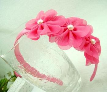 New style fashion sweet chiffon flower hairwear for child C6169