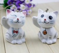 FREE SHIPPING!!!Ceramic crafts, Lucky cat aeolian bells pendant