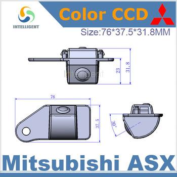 Free shipping Car rear view camera For Mitsubishi ASX HD CCD night vision car backup camera security system